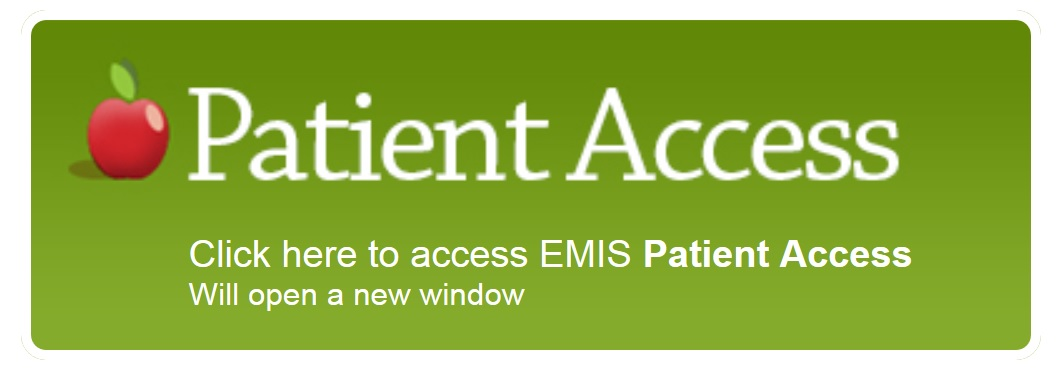 Click here to access EMIS Patient Access. Will open a new window.